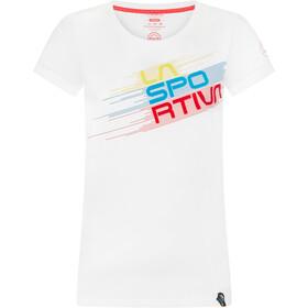 La Sportiva Stripe Evo T-Shirt Dames, wit